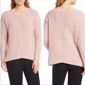Eileen Fisher Bateau Neck Merino Wool Sweater